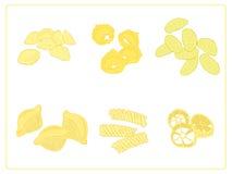 Italienische Teigwarengruppe. stockbild