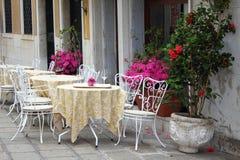 Italienische Terrasse Stockfotos