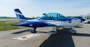 Italienische Ultralight Flugzeuge und Leicht-Sportflugzeuge, Fliegen-Synthese-Texaner-Spitzen-Klasse 600 Stockfotografie