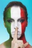 Italienischer Anhänger für FIFA 2014 Herstellungsruhegeste Lizenzfreie Stockbilder