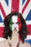 Italienischer Anhänger für FIFA 2014 mit Whoopsausdruck während er Stockbilder