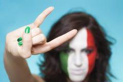 Italienischer Anhänger für Geste FIFAS 2014 Lizenzfreie Stockbilder
