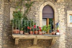 Italienischer Balkon Stockfotografie