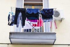 Italienischer Balkon Stockfotos