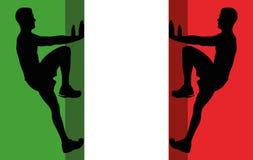 Italienischer Bergsteiger stock abbildung