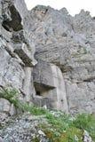Italienischer dolomiti Bunker Stockfoto