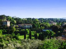 Italienischer Dorf-Abhang Lizenzfreie Stockfotografie