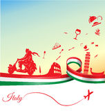 Italienischer Feiertagshintergrund Stockfotografie