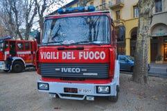 Italienischer Feuerwehrlastwagen Lizenzfreie Stockfotos