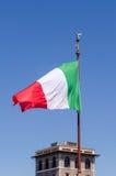 Italienischer Flaggenschlag Lizenzfreie Stockfotografie
