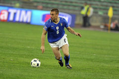 Italienischer Fußballspieler stockbild