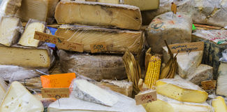 Italienischer Käse Stockfotografie