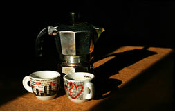 Italienischer Kaffee stockbild