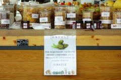 Italienischer Lebensmittelladen-Innenspeicher Italien Eataly Lizenzfreies Stockbild