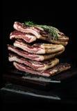 Italienischer Mittagessenfleisch Pancetta stockfotografie