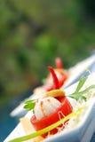 Italienischer Mozzarella Tomate Tapa lizenzfreies stockfoto