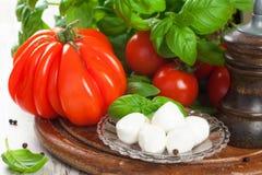 Italienischer Nahrungsmittelhintergrund Stockfoto
