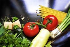 Italienischer Nahrungsmittelhintergrund Stockbilder
