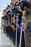 Italienischer nationaler Schutz der Ehre während einer willkommenen Zeremonie stockfotos