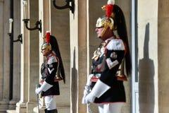 Italienischer nationaler Schutz der Ehre während einer willkommenen Zeremonie am Quirinale-Palast lizenzfreie stockbilder