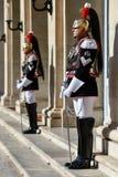 Italienischer nationaler Schutz der Ehre während einer willkommenen Zeremonie am Quirinale-Palast stockfotografie