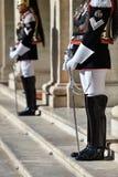 Italienischer nationaler Schutz der Ehre während einer willkommenen Zeremonie am Quirinale-Palast stockbilder