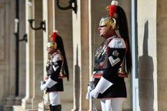 Italienischer nationaler Schutz der Ehre während einer willkommenen Zeremonie am Quirinale-Palast lizenzfreie stockfotografie