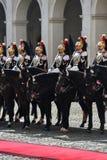 Italienischer nationaler Schutz der Ehre während einer willkommenen Zeremonie am Quirinale-Palast stockfoto