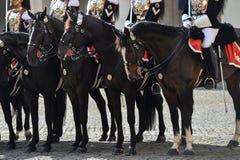 Italienischer nationaler Schutz der Ehre während einer willkommenen Zeremonie am Quirinale-Palast lizenzfreies stockfoto