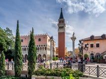 Italienischer Pavillon, Weltschaukasten, Epcot Lizenzfreies Stockfoto