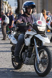 Italienischer Polizist im Motorrad Stockfotografie