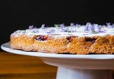 Italienischer rustikaler Kuchen mit Traube Stockbild