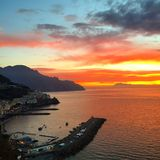 Italienischer Sonnenaufgang Lizenzfreies Stockbild