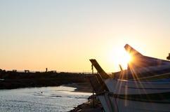Italienischer Sonnenuntergang Stockfotos