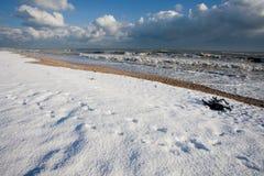 Italienischer Strand im Winter Stockfotografie