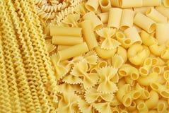 Italienischer Teigwarenhintergrund stockbild