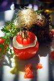 Italienischer Tomatesalat stockbilder