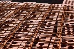Italienischer Ziegelstein und gepanzertes Gitter lizenzfreies stockbild