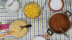 Italienisches Abendessen Lizenzfreies Stockfoto