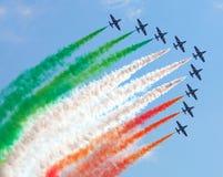 Italienisches aerobatic Team in der Aktion Stockbilder