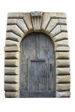 Italienisches Architekturdetail Alte mittelalterliche Arthaustür Stockfoto