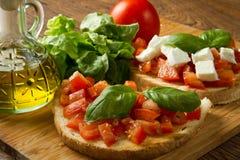 Italienisches bruschetta Lizenzfreie Stockfotos