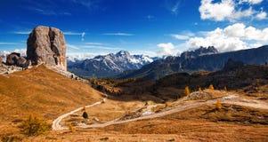 Italienisches dolomiti - netter Panoramablick stockfoto