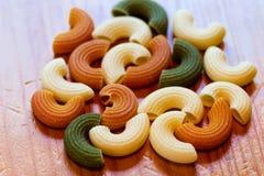 Italienisches dreifarbiges Teigwarenlebensmittel Lizenzfreies Stockbild