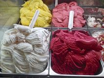 Italienisches Eiscreme Lizenzfreies Stockfoto