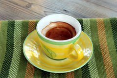 Italienisches Espresso Stockfotografie