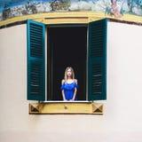 italienisches Fenster Lizenzfreies Stockfoto