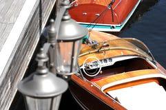 Italienisches Flussboot Stockbild