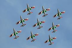 Italienisches Frecce Tricolori Lizenzfreie Stockfotos