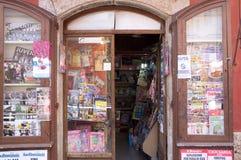 Italienisches Geschäft von Zeitungen und von Zeitschriften Lizenzfreie Stockfotografie
